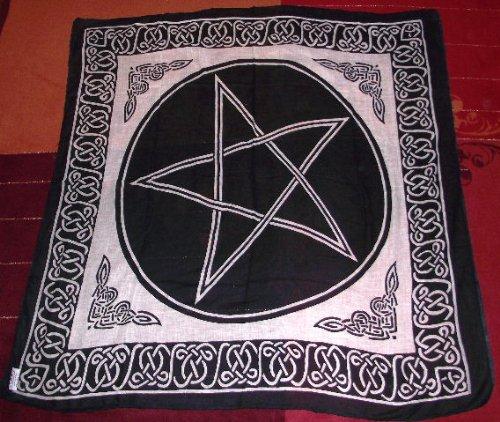 Pentagram Altar Tarot Cloth Cotton Wicca Pagan New Design by New Age (Kristallkugeln Wahrsagen)