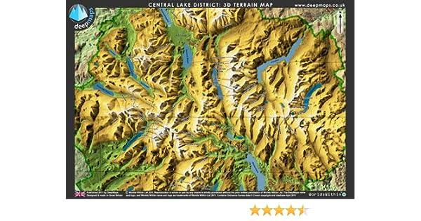 Deepmaps Central Lake District 3D Terrain Map Amazoncouk