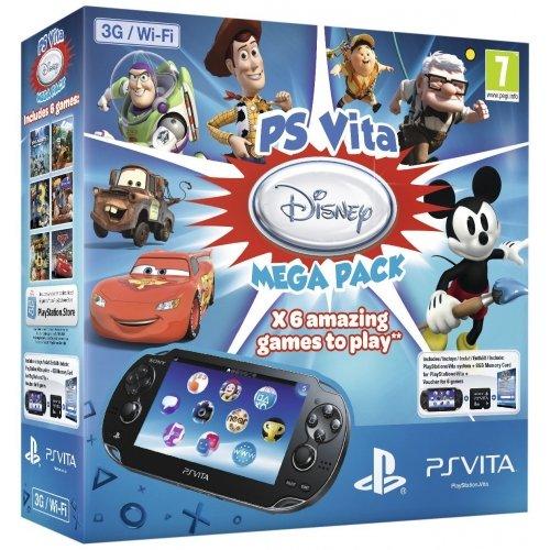 Console PS Vita 3G : Méga Pack : Jeux à télécharger Disney + Carte Mémoire 8 Go