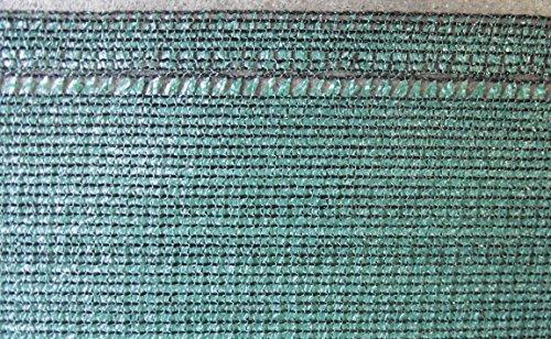 EXCOLO Schattiernetz 1,8 m hoch 150 g/m² grün als Zaunblende Tennisblende Windschut-Netz Bauzaun-sichtschuz Blickschutz Schattiergewebe Garten Balkon Sportplatz Gelände Tennis Baustelle