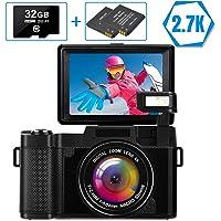 LINNSE Digitalkamera Vlogging-Kamera Full HD 2.7K 30MP Kompaktkamera mit 32G…
