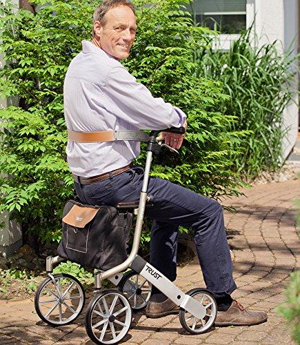 Trust Care Rückengurt für Rollator Let's go out braun