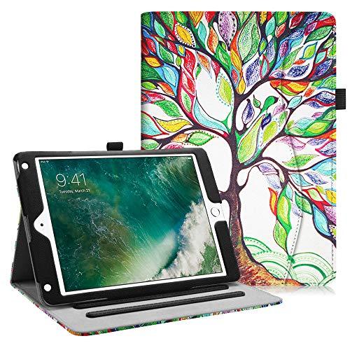 Fintie Hülle für iPad 9.7 Zoll 2018 2017 / iPad Air 2 / iPad Air - [Eckenschutz] Multi-Winkel Betrachtung Folio Stand Schutzhülle Case mit Dokumentschlitze, Auto Wake/Sleep, Liebesbaum
