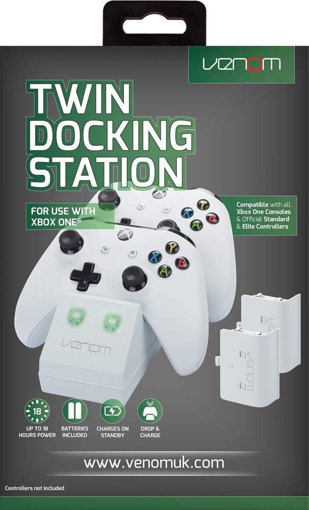 Venom - Twin Docking Station & Battery Packs Con Cubiertas