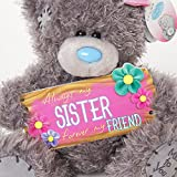 """Me to You SG01W4084 6-Inch Tall """"Tatty Teddy Always My Sister/Forever My Friend Bear Sits"""" Plush Toy"""