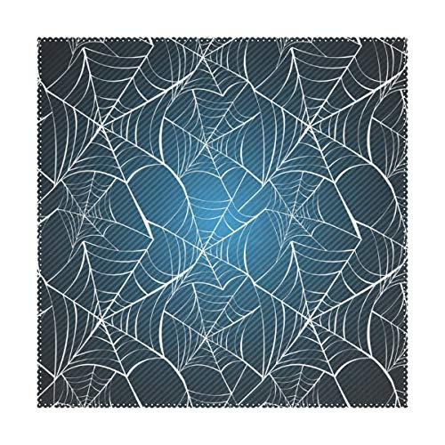 ebeständige Rutschfeste Spinnennetz Halloween Muster 12x12 Zoll 1 stück Tischsets für Esszimmer Küche ()