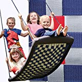 Große Mehrkindschaukel STANDARD silber/rot/blau für 4 Kinder, 136 x 66 cm (SPR.L.109) - das Original direkt vom Hersteller die-schaukel.de