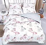 NEU Bettbezug Bettbezug Bettwäsche-Set: Unicorn alle Größen, Doppelbett