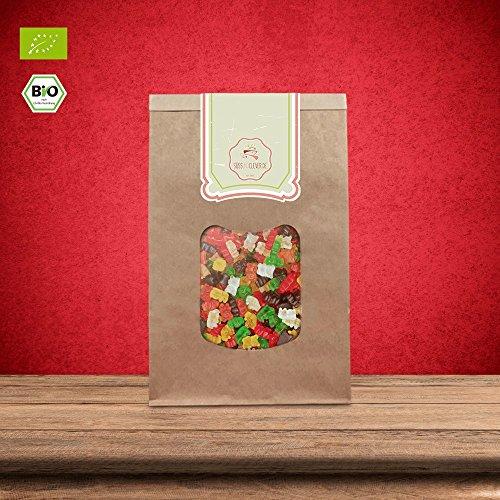 süssundclever.de® Gummibärchen Bio | 500 g | Premium Qualität: hochwertiges Naturprodukt | plastikfrei abgepackt in ökologisch-nachhaltiger Bio-Verpackung | Fruchtgummi (500.00)