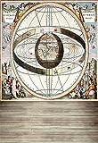 leowefowa 3x 150Vinyl Hintergrund dünn Fotografie Hintergrund europäischen Renaissance Sternzeichen geozentrisch Theorie Scenery Sweet Kinder Film Portraits Hintergrund 1(W) X 1,5Linsenplatte (H) M Foto Studio Prop