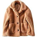 beautyjourneylove Cardigan da Donna Cappotto di Lana Tinta Unita Cappotto da Donna Tinta Unita Cappotto Spesso Invernale Cald