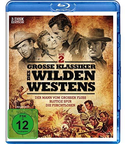 Große Klassiker des Wilden Westens 2 - Der Mann vom großen Fluss, Blutige Spur, Die Furchtlosen [Blu-ray]