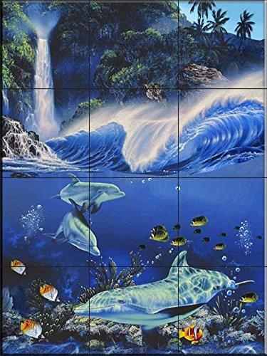 The Tile Mural Store - Fantastic Pools by Christian Riese Lassen - Kitchen SplashBack / Bathroom Wall Tile Mural - Keramische Fliesen Pool