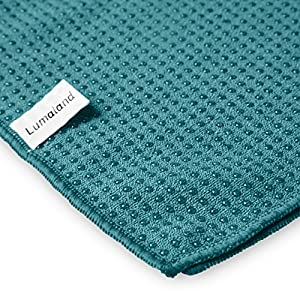 Lumaland Premium Mikrofaser Yoga Handtuch mit Antirutsch Noppen 60x180cm für die Yogamatte