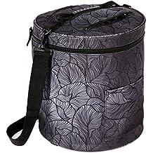 Bolsa para tejer: organiza las madejas de lana e hilo, cesta de almacenamiento y organizador. Bolsa de viaje con ranuras y bolsillos para agujas de ganchillo, ganchos y accesorios que protege la lanay evita enredos. De Kenley.