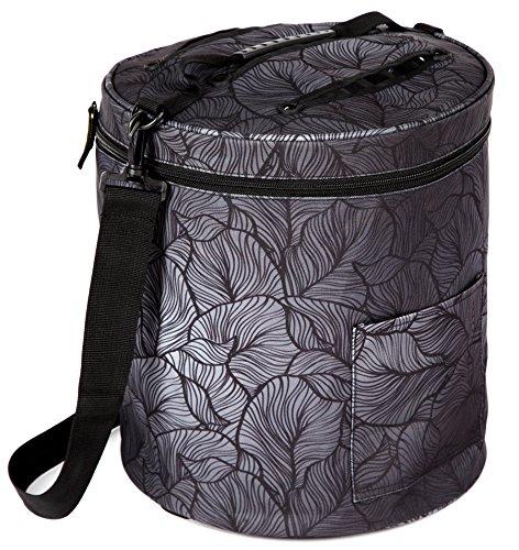 Kenley Stricktasche Stricken Häkeln Aufbewahrung Tasche für Wolle, Garn und Fäden - Organizer mit Taschen für Strickzubehör und Häkelnadel - Schützt die Wolle und verhindert Verfitzen (Organizer Häkelnadel)