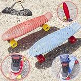 """Babz 22"""" Cruiser Retro Talla Skate Patinaje Tabla Patinador Plástico Completo Cubierta Nueva - Rojo"""