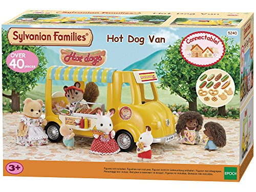 SYLVANIAN FAMILIES- Hot Dog Van Mini Muñecas Y Accesorios, (Epoch para Imaginar 5240)
