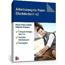 Arbeitszeugnis-Paket Dachdecker Note Eins bis Vier [Zip Ordner]