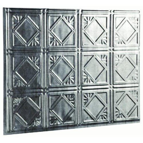 5/PACK ACOUSTIC FASADE TRADITIONAL 4 D6121 18X24 BACKSPLASH PANEL SILVER by FASADE - TRADITIONAL 4 (Na Backsplash)