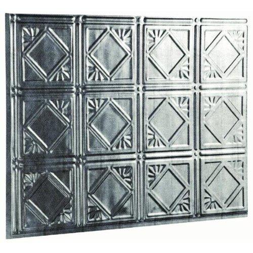 5/PACK ACOUSTIC FASADE TRADITIONAL 4 D6121 18X24 BACKSPLASH PANEL SILVER by FASADE - TRADITIONAL 4 (Fasade Panels Backsplash)