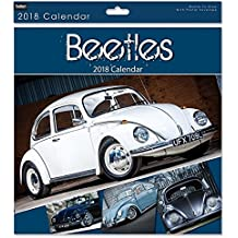 Tallon Calendario de pared de 2016, cuadrado, mensual, con automóviles VW Beetle y autobuses, Beetle rojo