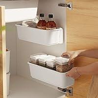 Baffect 2 organisateurs de panier d'armoire de cuisine,Glissez les tiroirs de rangement en plastique,sous l'évier…