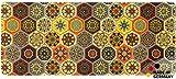matches21 Küchenläufer Teppichläufer Teppich Läufer Marokko Fliesen Mosaik orange bunt 50x120x0,4 cm maschinenwaschbar