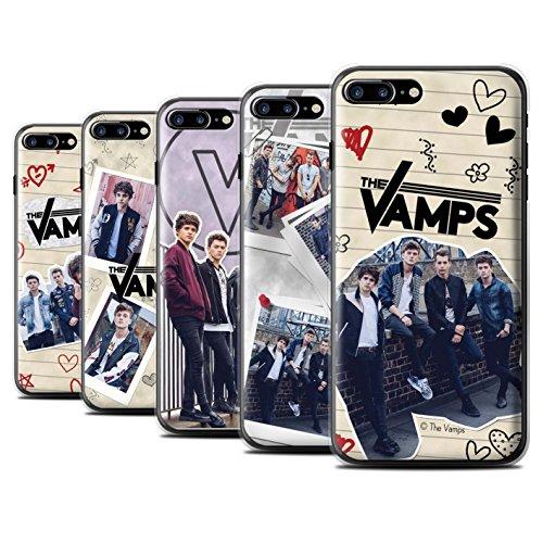 Officiel The Vamps Coque / Etui pour Apple iPhone 7 Plus / Stylo Rouge Design / The Vamps Livre Doodle Collection Pack 5Pcs