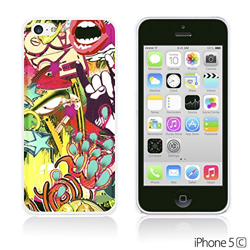 OBiDi - Funny Pattern Hardback Case / Housse pour Apple iPhone 5C - A TO Z Rock Graffiti