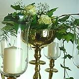 Blumenschale Silber / Gold / Weissfarbend