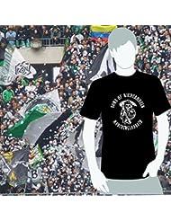 World of Football T-Shirt Sons of Niederrhein Mönchengladbach schwarz