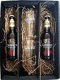 Guinness Geschenkset - 2x Guinness Extra Stout Bier 0,33L (4,1% Vol) + 2x Gläser