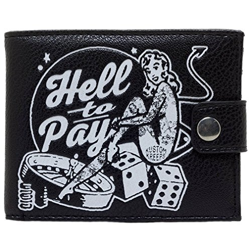 Sourpuss Kustom Kreeps Herren Bifold Geldbörse Gambling - Hell To Pay Rockabilly Portemonnaie