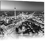 Berlin City Panorama Kunst B&W, Format: 100x70 auf