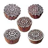 Royal Kraft Beliebt Entwürfe Blumen und Mandala Holz Stempel für Drucken (Set von 5)