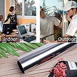 300 * 61cm silber Spiegelfolie 99% UV Sonnenschutzfolie 18% Sichtschutzfolie