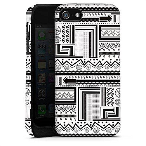 Apple iPhone X Silikon Hülle Case Schutzhülle Ethnostyle Abstrakt Muster Tough Case matt