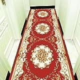 Alfombras De Pasillo, Alfombras Largas De Rollo Tienda Completa Se Puede Cortar Escaleras De Alfombras Antideslizantes Householdhotel (Ancho: 60 Cm),Red,8M