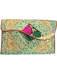 Shubhangi Women's Shoulder Sling Bag (Jaipuri Embroidered Handicraft Traditional Bags,Stylish Wedding Bag,Multi-Coloured... - B0781SYZRC