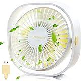 SmartDevil Small Personal USB Desk Fan,3 Speeds Portable Desktop Table Cooling Fan Powered by USB,Strong Wind,Quiet Operation
