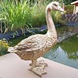 FDSt Dekofigur Goldene Gans Ente Vogel Erpel Tierfigur Deko Weihnachten Gans