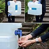 SinceY 15 L Auto Portable Wasserträger, Wasser Kanister mit festen Abfluss Hahn/Wasserauslauf, Wasserbehälter Tank Camping Outdoor BBQ und Lange Reise etc, Home Drinking Storage Eimer mit Wasserhahn