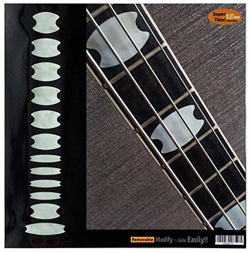 Oval Krone Block Bund Marker Inlay Aufkleber für Bass (WT)