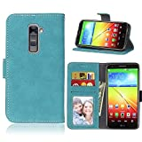 LG G2 Case,BONROY® LG G2 Retro Matte Leather PU Phone
