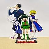 Anime Acrylic Stand Figure Hunter x Hunter killua Hisoka - مجسم اكريليك انمي هنتر القناص كيلوا هيسوكا كورابيكا (1)