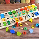Best Board Games For 7 Year Olds - Leoie Multicolor 3 in 1 Digital Shape Paired Review