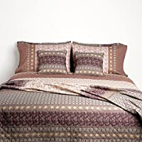 Bassetti Granfoulard.- Colcha copriletto Leonardo V7 tostado para cama de 150, en medida 240 x 255 cm