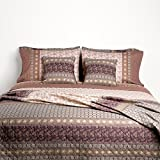 Bassetti Granfoulard.- Colcha copriletto Leonardo V7 tostado para cama de 150, en medida 240 x 255...