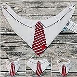 Halstuch Krawatte Hemd Anzug Babyhalstuch Hochzeit Weihnachten Musselintuch Musselin bestickt Tuch
